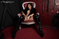 Mistress Kennya with boots and  fur says no pussy for you