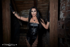 Mistress-Mistress Kennya in leather in Her dungeon